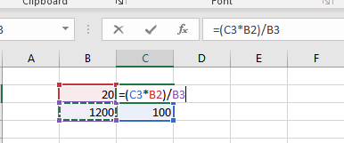 Cross products using excel